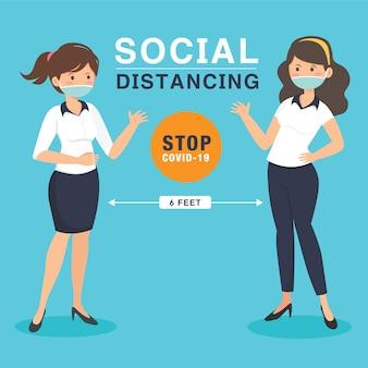 Soziale distanzierung hält abstand