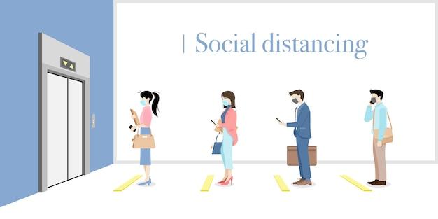 Soziale distanzierung im büro