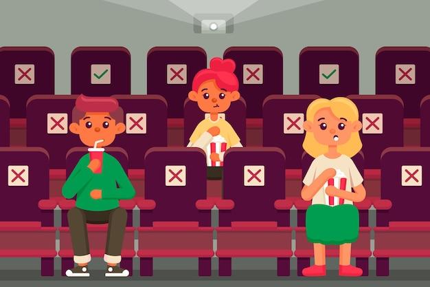 Soziale distanzierung in kinos