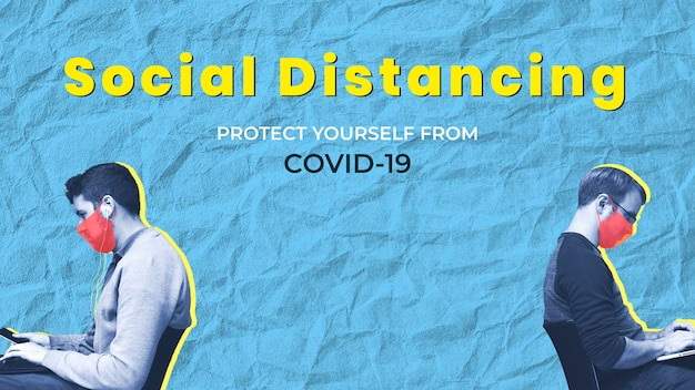 Soziale distanzierung, um sich und andere vor covid-19 zu schützen