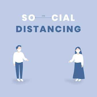 Soziale distanzierung und covid-9-bewusstsein