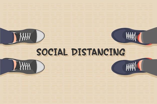 Soziale distanzierung während des ausbruchs des coronavirus.
