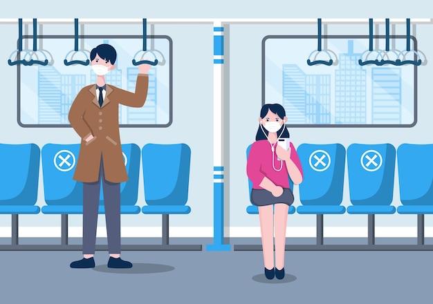 Soziale distanzierung zur vorbeugung von krankheiten