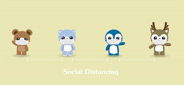 Soziale distanzierung zwischen menschen. personen, gesundheitswesen, krankheitsschutz, coronavirus, covid-19