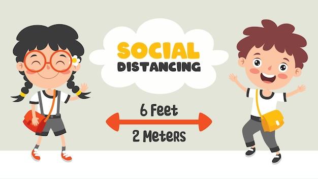 Soziale distanzregeln für kinder