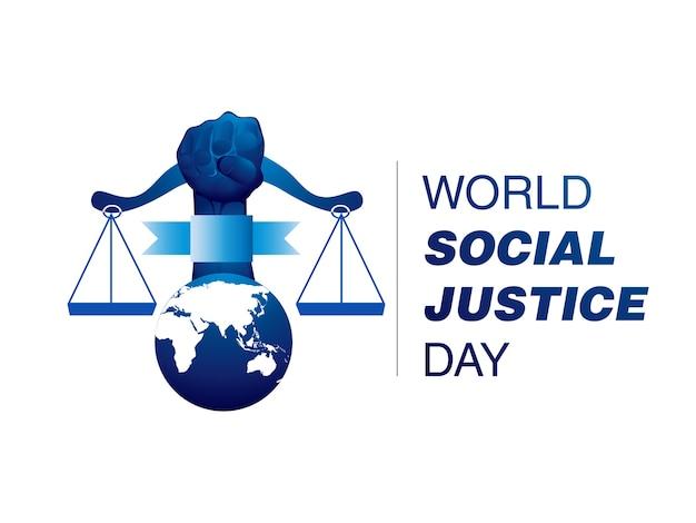 Soziale gerechtigkeit logo design