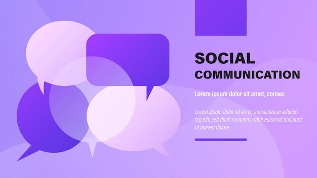 Soziale kommunikation.