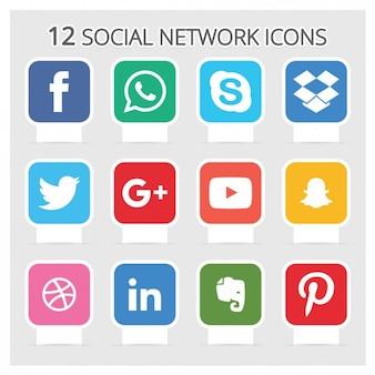 Soziale netz-ikonen