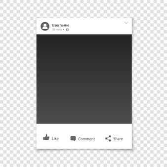 Soziale netzwerk-fotorahmen