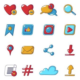 Soziale netzwerk-icons gesetzt