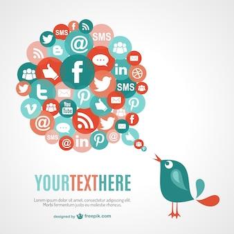 Soziale netzwerk-kommunikation-vektor