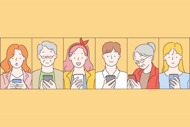 Soziale netzwerke, nachrichten, kommunikation.