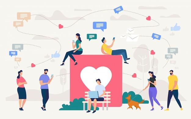Soziale netzwerkgemeinschaft, digitales marketing