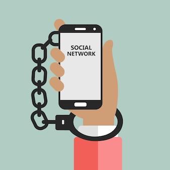 Soziale netzwerks sucht metapher