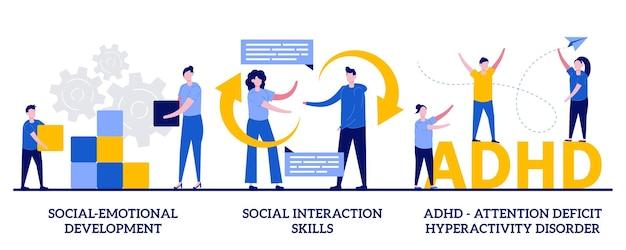 Sozialemotionale entwicklung, soziale interaktionsfähigkeiten, aufmerksamkeitsdefizit-hyperaktivitätsstörung