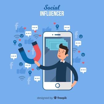 Sozialer influencer