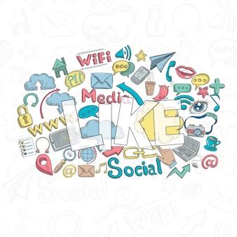 Soziales gekritzel mögen