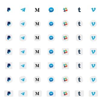 Soziales icon set
