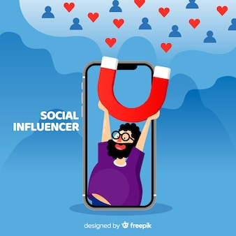 Soziales influencer-konzept