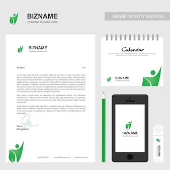 Soziales logo und briefkopfdesign