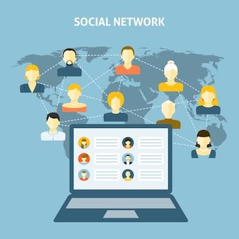 Soziales netzwerk-konzept