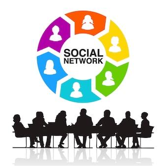 Soziales netzwerk-team