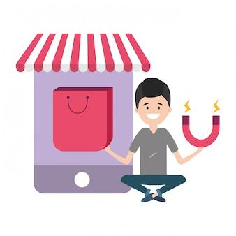 Soziales netzwerk und digitales marketing
