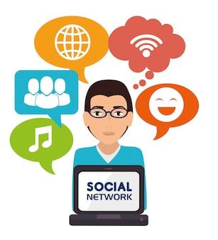 Soziales netzwerk und medien