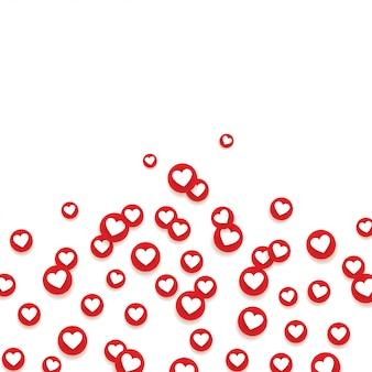 Soziales netzwerk wie liebesikonen.
