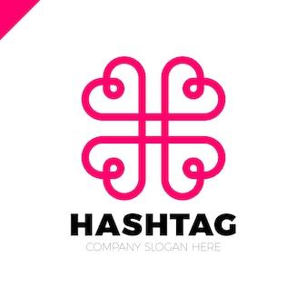 Soziales symbol mit vier herzen