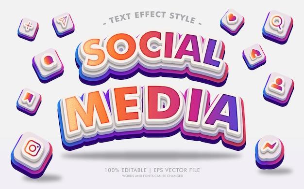 Sozialmedien text effekte stil