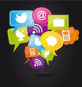 Sozialnetz-konzept-symbole