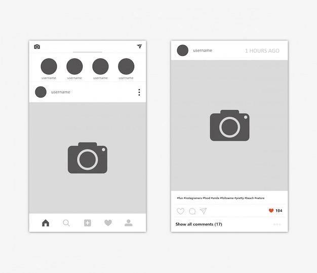 Sozialnetzfotorahmen-vektorillustration