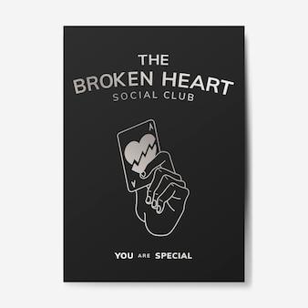 Sozialvereinillustration des gebrochenen herzens