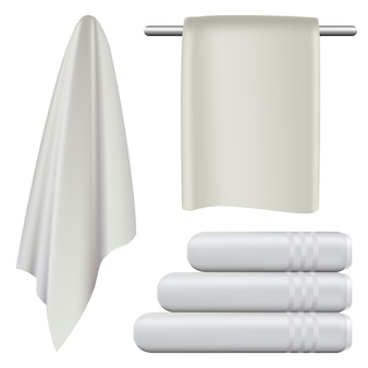 Spa bad-modell-set für das handtuch hängen