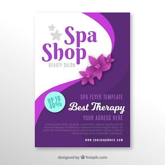 Spa center poster im flachen design
