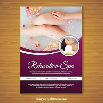 Spa-flyer mit einem foto