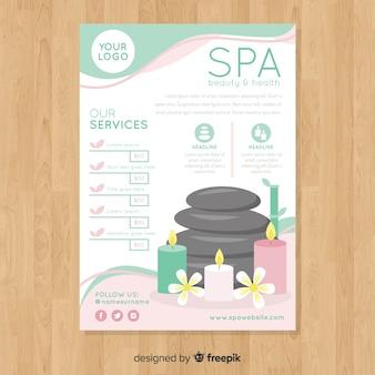 Spa-flyer-vorlage