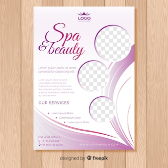 Spa-flyer-vorlage