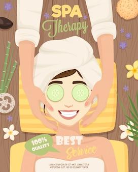 Spa hautpflege routine poster