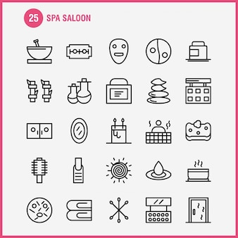 Spa saloon line icon-set