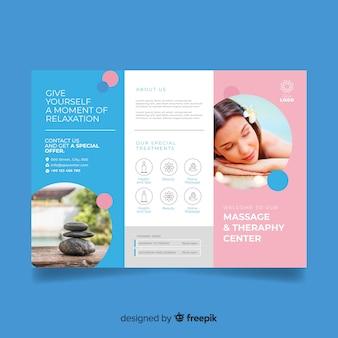 Spa trifold-broschüre