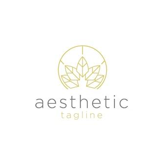 Spa und ästhetisches logo