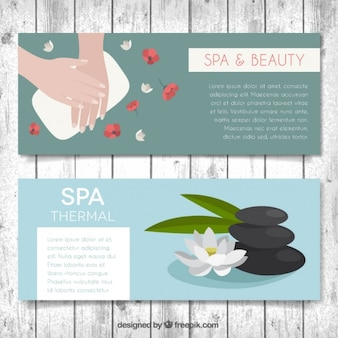 Spa und beauty-banner