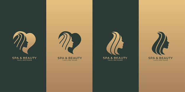 Spa- und beauty-logo-set