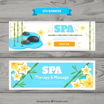 Spa und massage banner