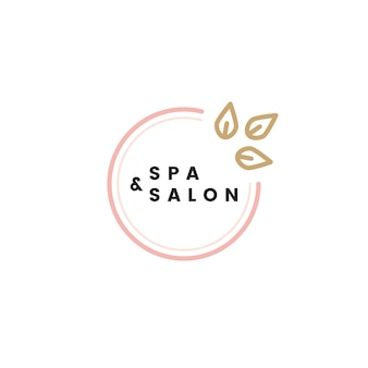 Spa und salon logo vektor