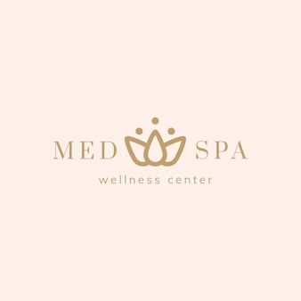 Spa und wellness-center-logo-vektor