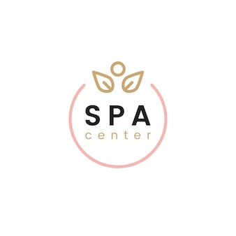 Spa und Wellness-Center-Logo-Vektor
