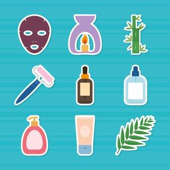 Spa- und wellness-icon-set